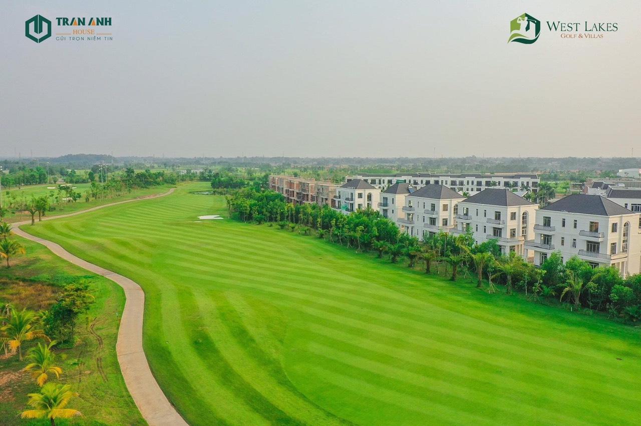 Tiến độ tháng 4 năm 2021 Biệt Thự West Lakes Golf & Villas